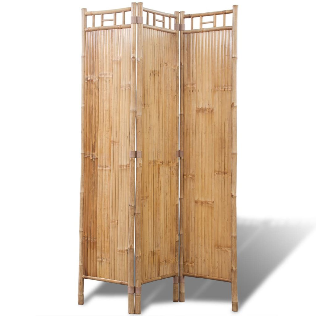 Paravan din bambus cu 3 panouri