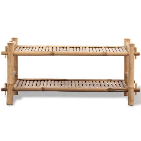 Suport de pantofi pe 2 niveluri din bambus
