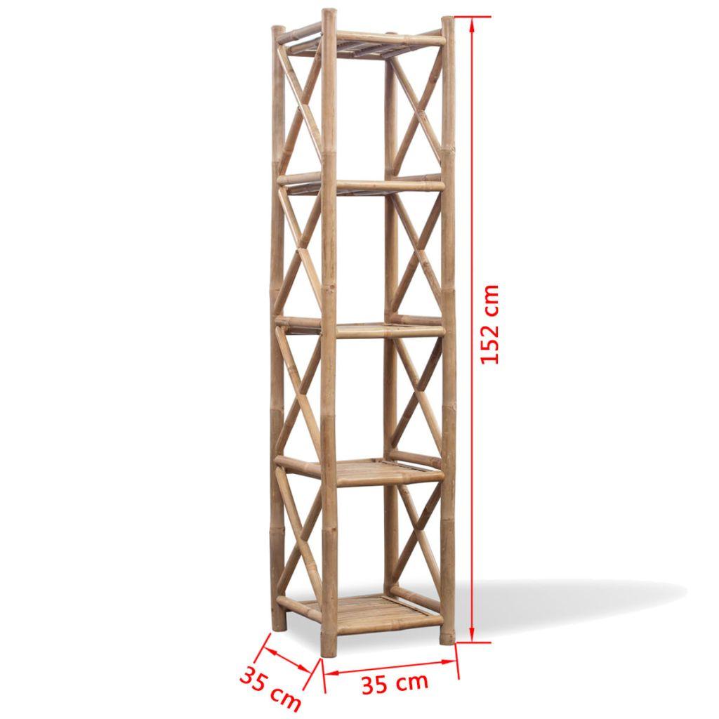 Raft din bambus cu 5 nivele