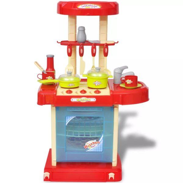 Bucătărie de jucărie pentru copii cu lumini și efecte sonore