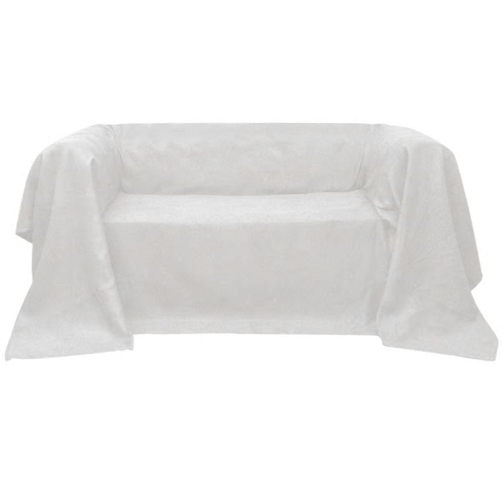 Husă din velur micro-fibră pentru canapea 210 x 280 cm, Crem