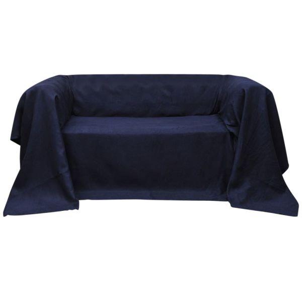 Husă din velur micro-fibră pentru canapea, 140 x 210 cm, bleumarin