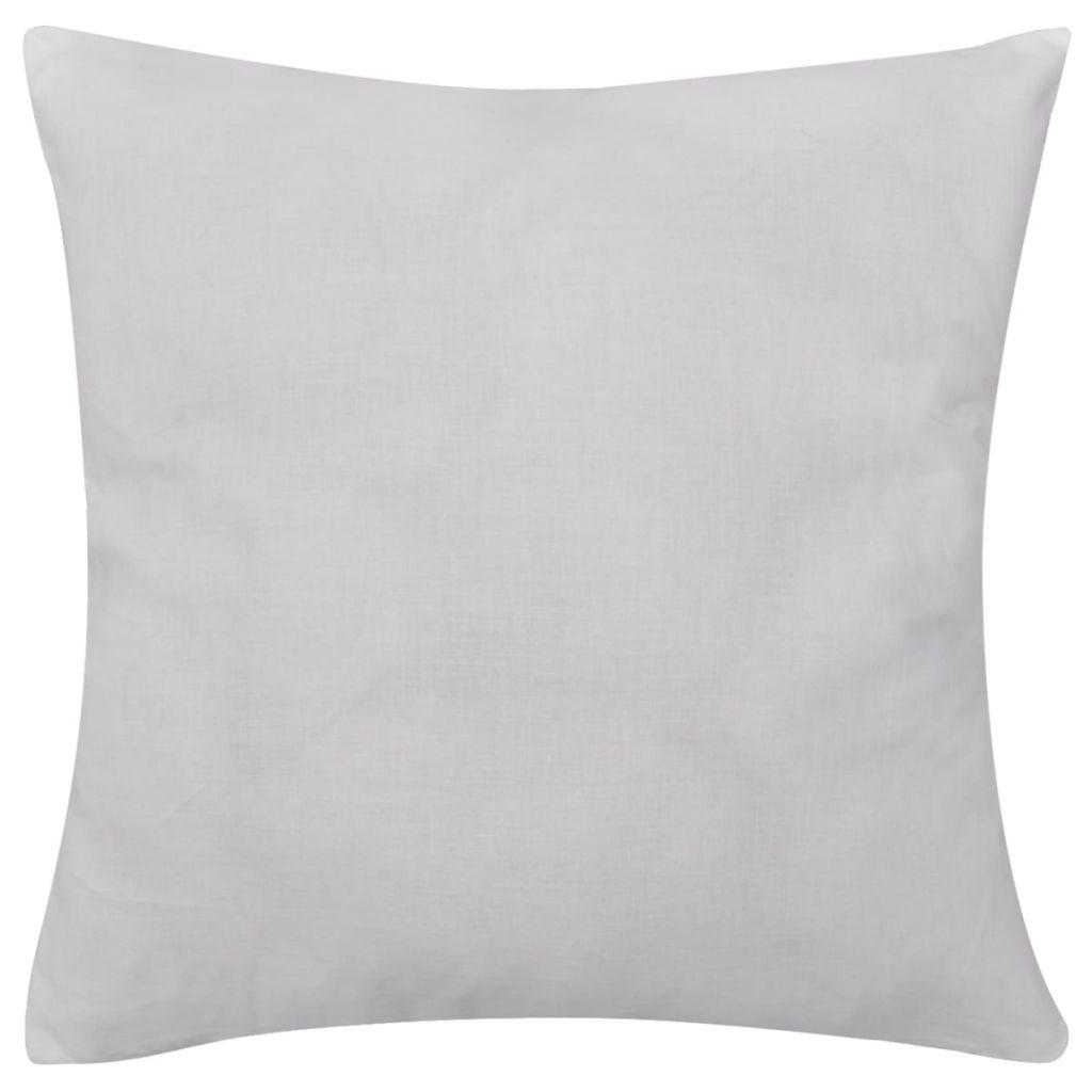 Huse de pernă din bumbac, 40 x 40 cm, alb, 4 buc.