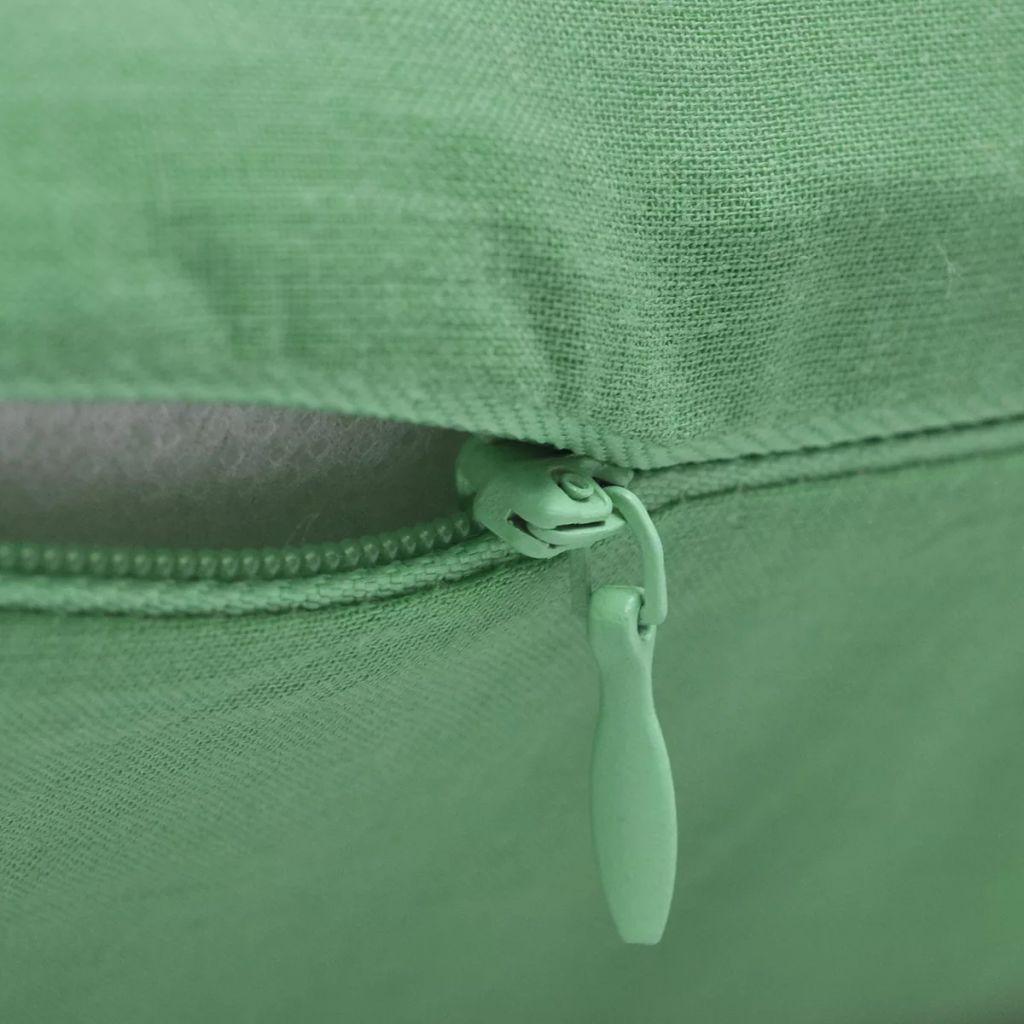 Huse de pernă din bumbac, 80 x 80 cm, verde măr, 4 buc.