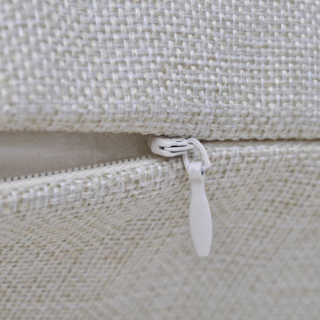 Huse de pernă cu aspect de pânză, 50 x 50 cm, bej, 4 buc.