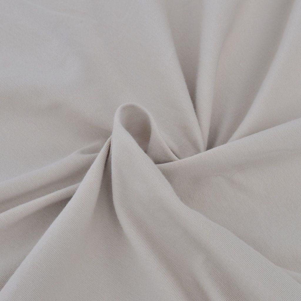 Husă elastică din bumbac jerseu pentru canapea, bej