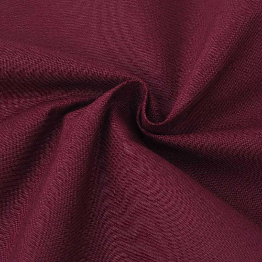 vidaXL Țesătură din bumbac 1,45 x 20 m, roșu burgund