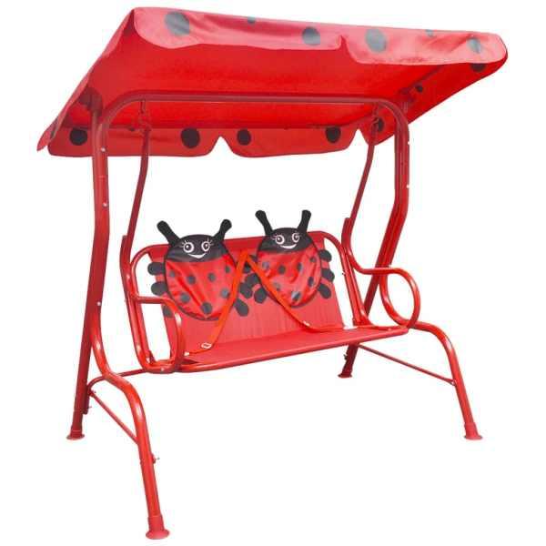 vidaXL Leagăn pentru copii, roșu