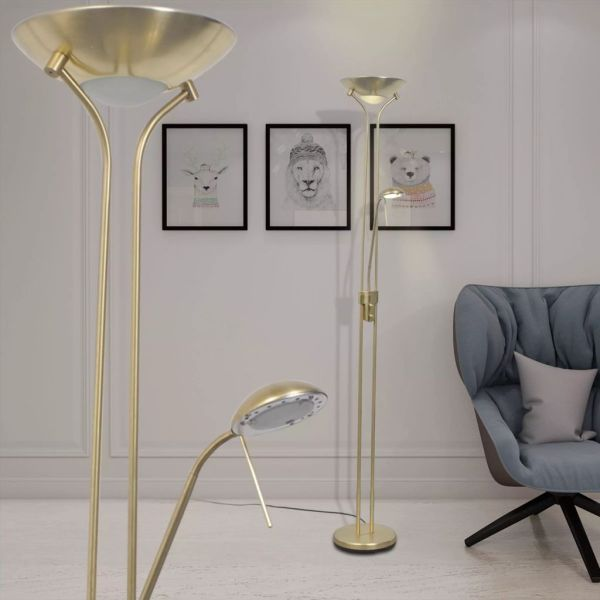 vidaXL Lampă de podea cu iluminare LED și intensitate variabilă 23 W