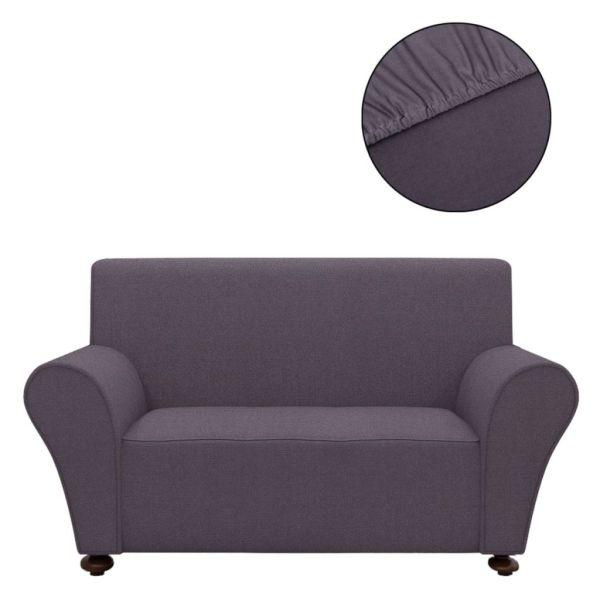 vidaXL Husă elastică canapea din poliester jerse, antracit