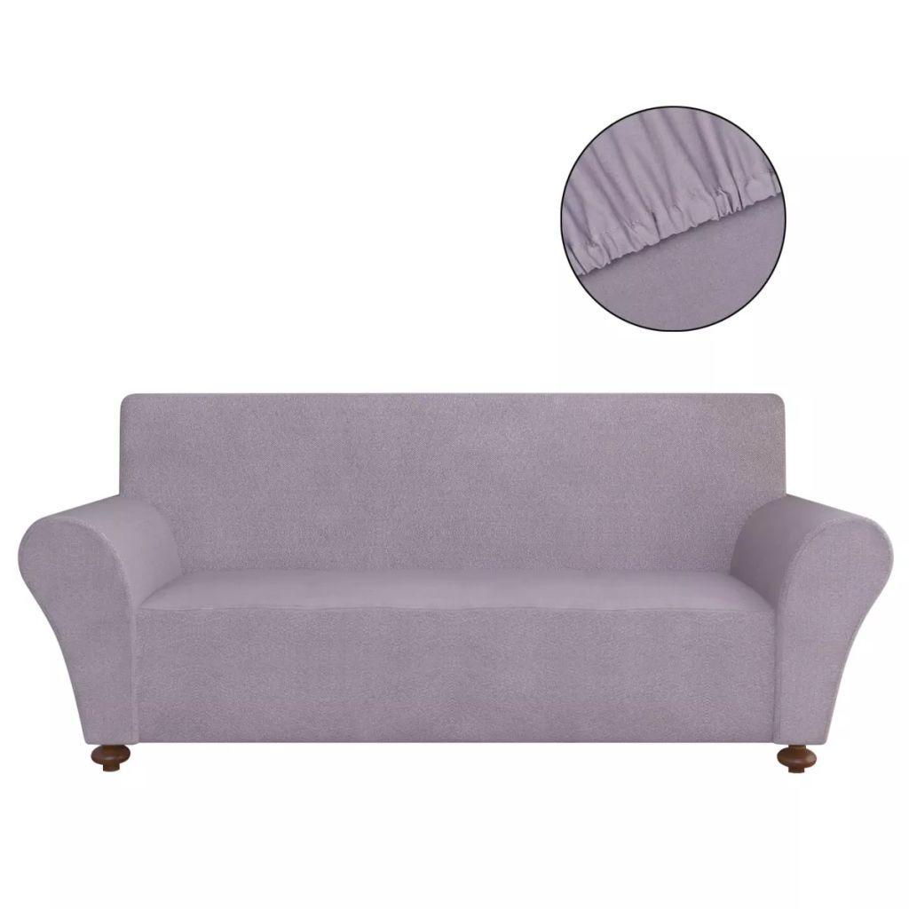 vidaXL Husă elastică pentru canapea poliester jerseu gri