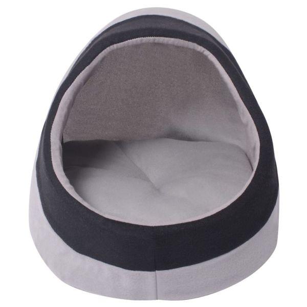 Pătuț pentru pisici, XL, gri și negru