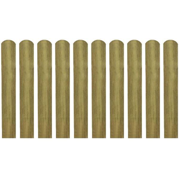 vidaXL Șipci de gard tratate, 10 buc., 60 cm, lemn