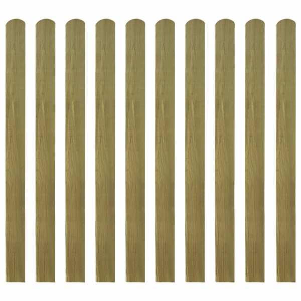 vidaXL Șipci de gard tratate, 10 buc., 120 cm, lemn