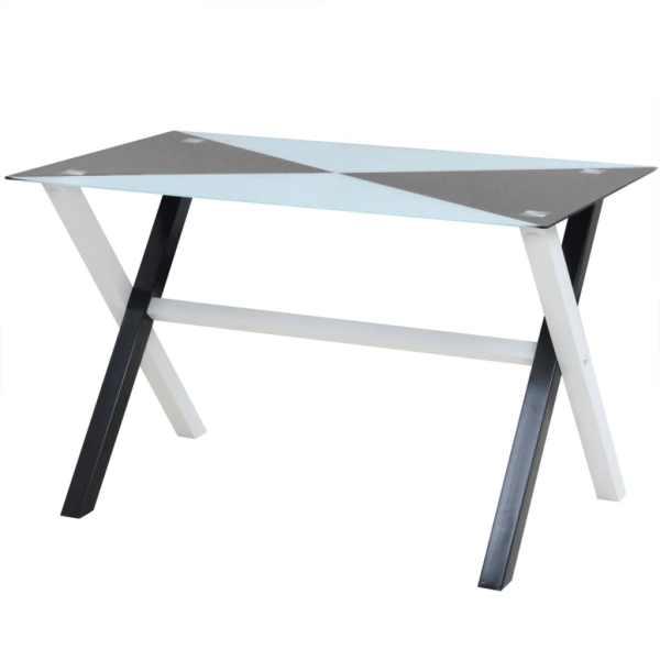vidaXL Set masă și scaune din piele artificială, cinci piese