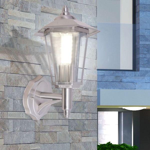 vidaXL Felinar de exterior cu montare pe perete, oțel inoxidabil