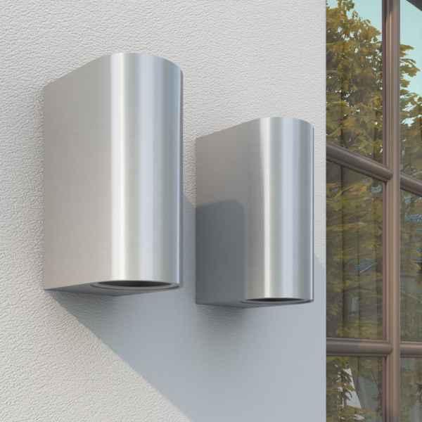 vidaXL Corpuri de iluminat sus/jos pentru perete exterior, 2 buc.