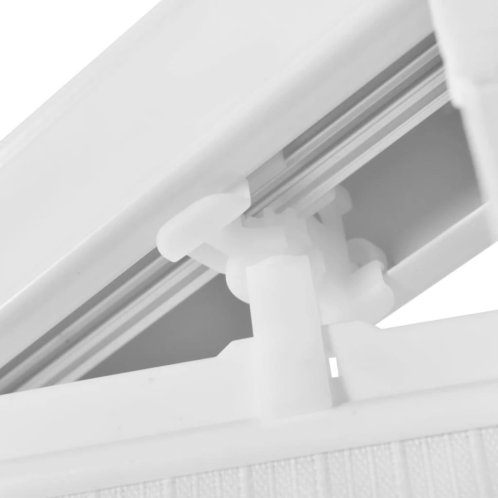 Jaluzele verticale, alb, 195×180 cm, material textil