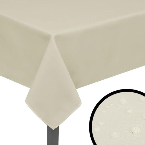 vidaXL Fețe de masă, 190 x 130 cm, crem, 5 buc.