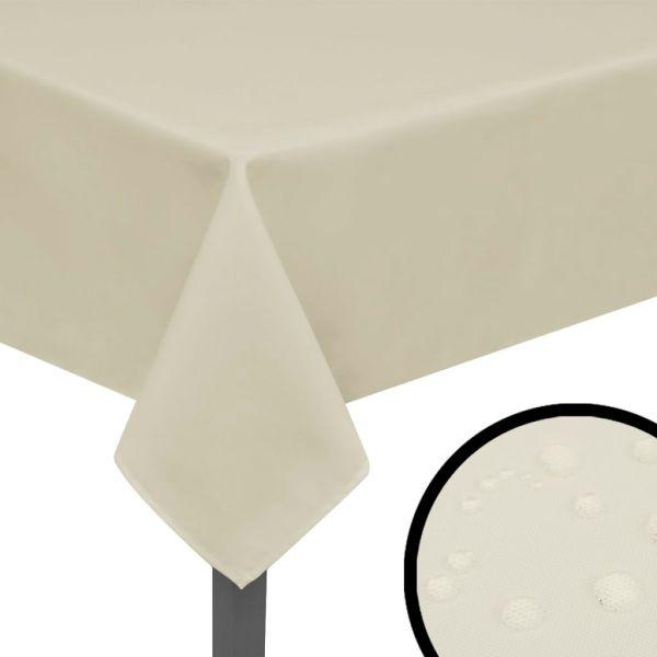 vidaXL Fețe de masă, 220 x 130 cm, crem, 5 buc.