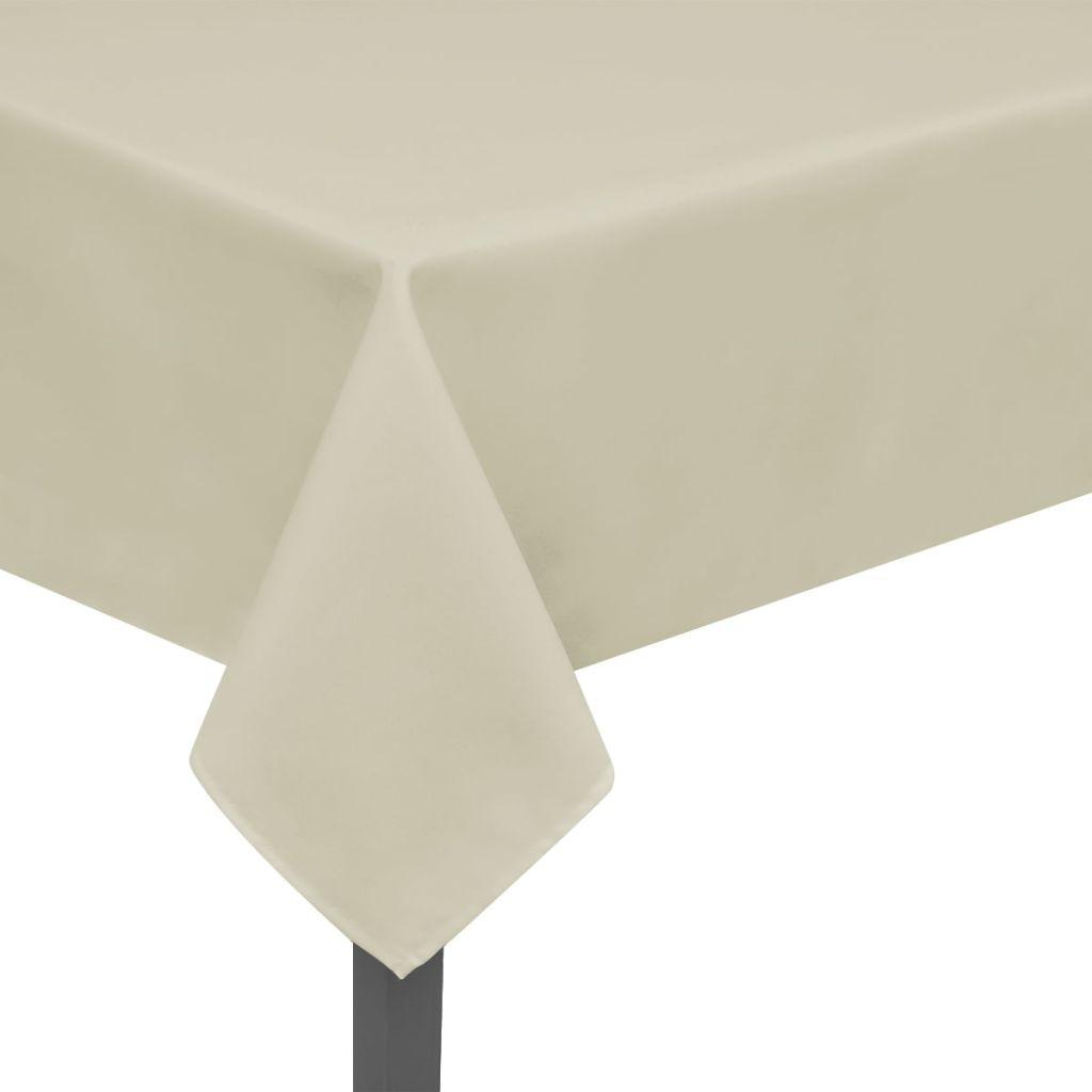 Fețe de masă, 220 x 130 cm, crem, 5 buc.