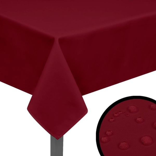 131452 vidaXL Fețe de masă 5 buc., roșu burgund, 100 x 100 cm