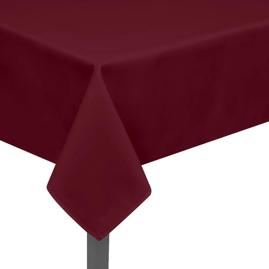 vidaXL Fețe de masă, 220 x 130 cm, roșu burgund, 5 buc.