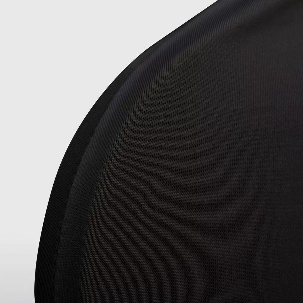 Husă elastică pentru scaun, negru, 4 buc.