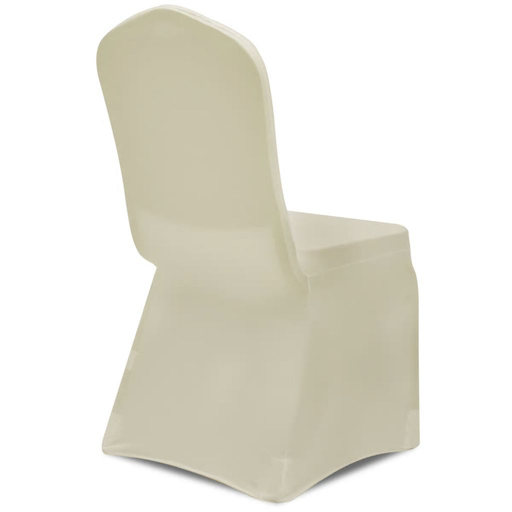 Husă elastică pentru scaun, crem, 4 buc.