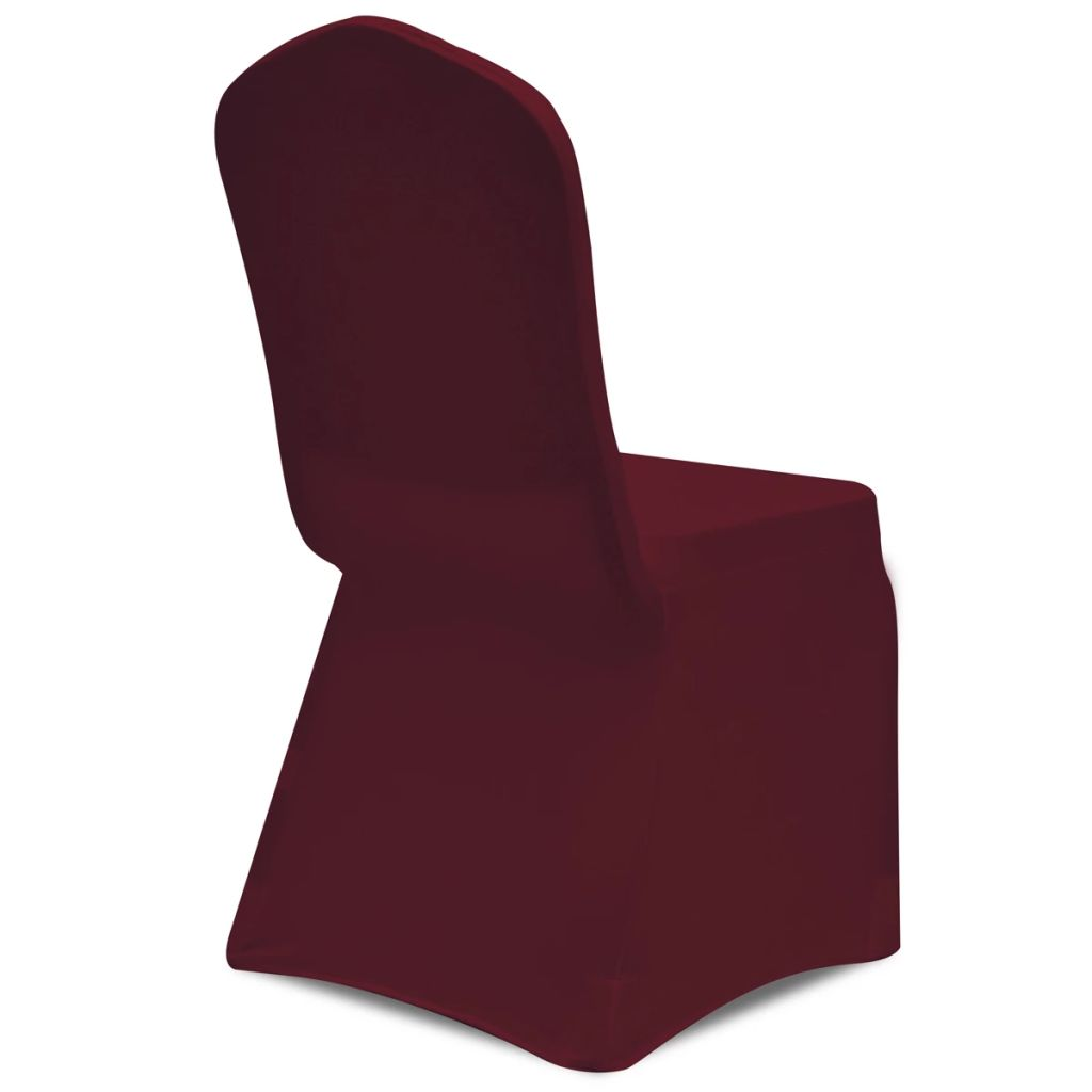 Husă elastică pentru scaun, bordo, 4 buc.