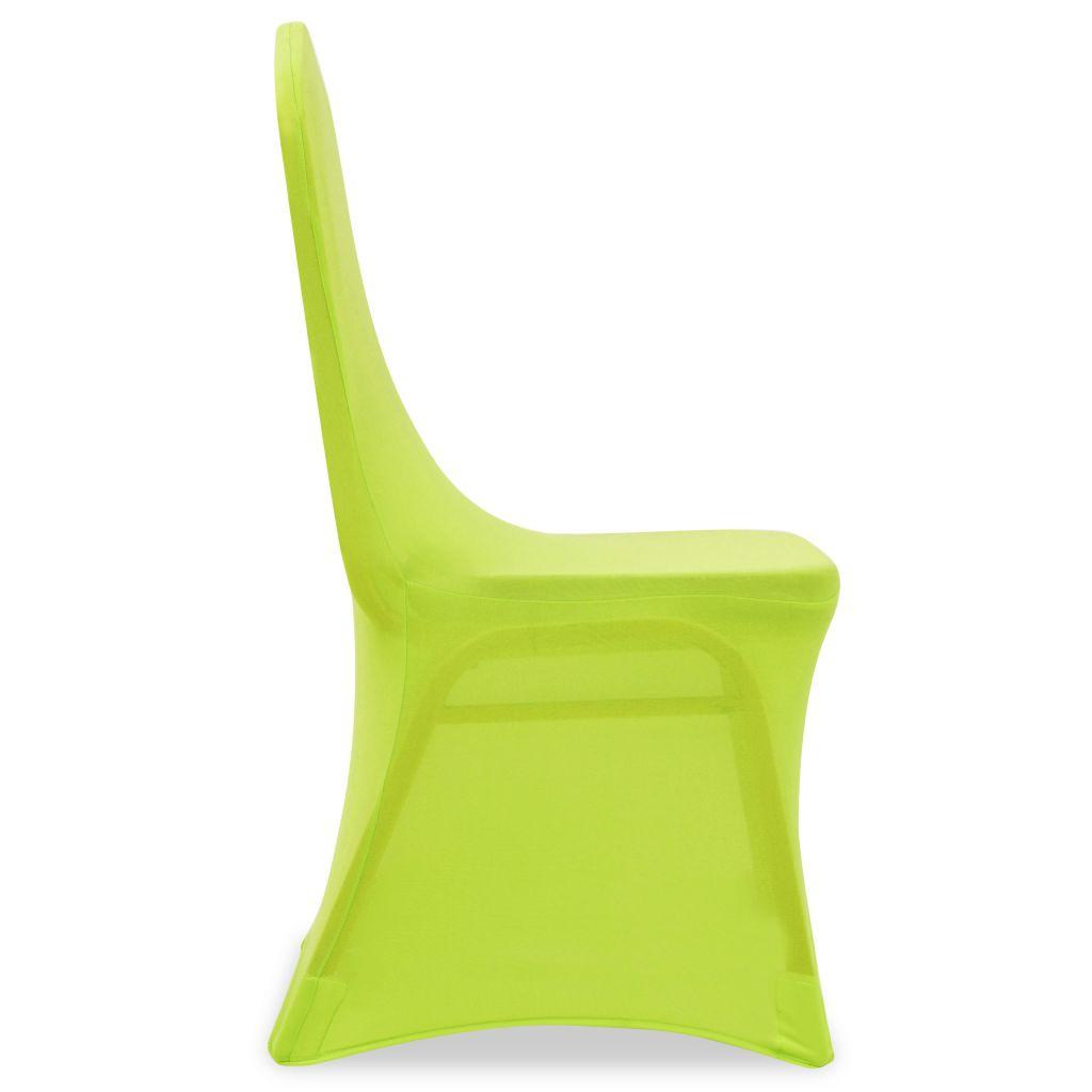 vidaXL Husă elastică pentru scaun, verde, 4 buc.