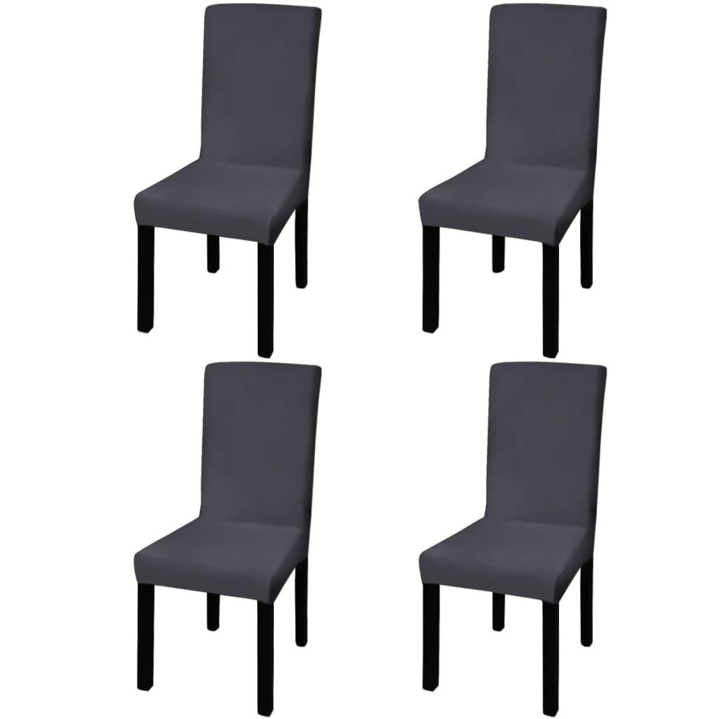 vidaXL Husă elastică pentru scaun, antracit, 4 buc.