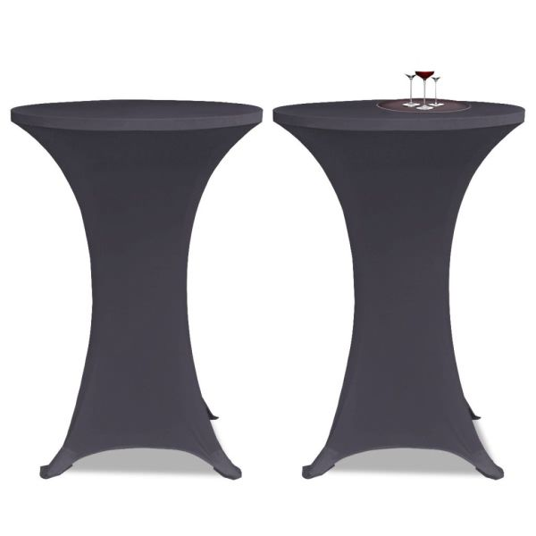 vidaXL Husă elastică pentru masă, 60 cm, antracit, 2 buc.