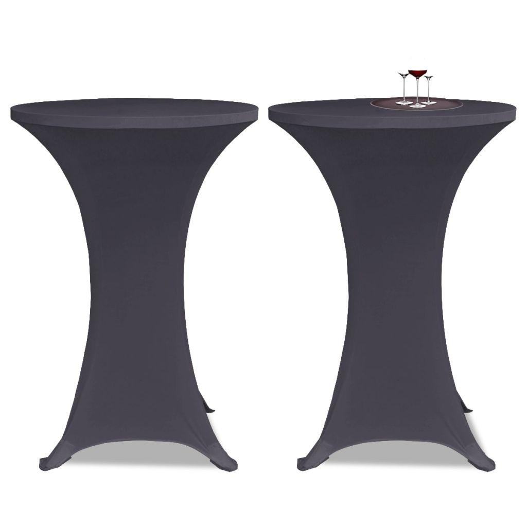 vidaXL Husă elastică pentru masă, 80 cm, antracit, 2 buc.
