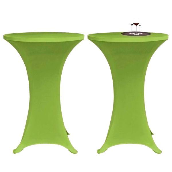 vidaXL Husă elastică pentru masă, 70 cm, verde, 2 buc.
