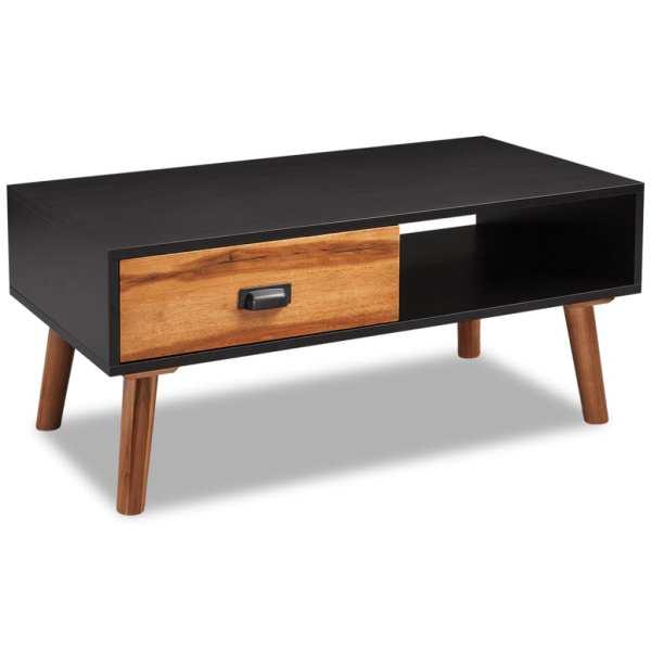 vidaXL Măsuța de cafea din lemn de salcâm 90x50x40 cm