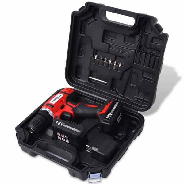 vidaXL Kit bormașină fără fir, cu baterii Li-ion 18 V