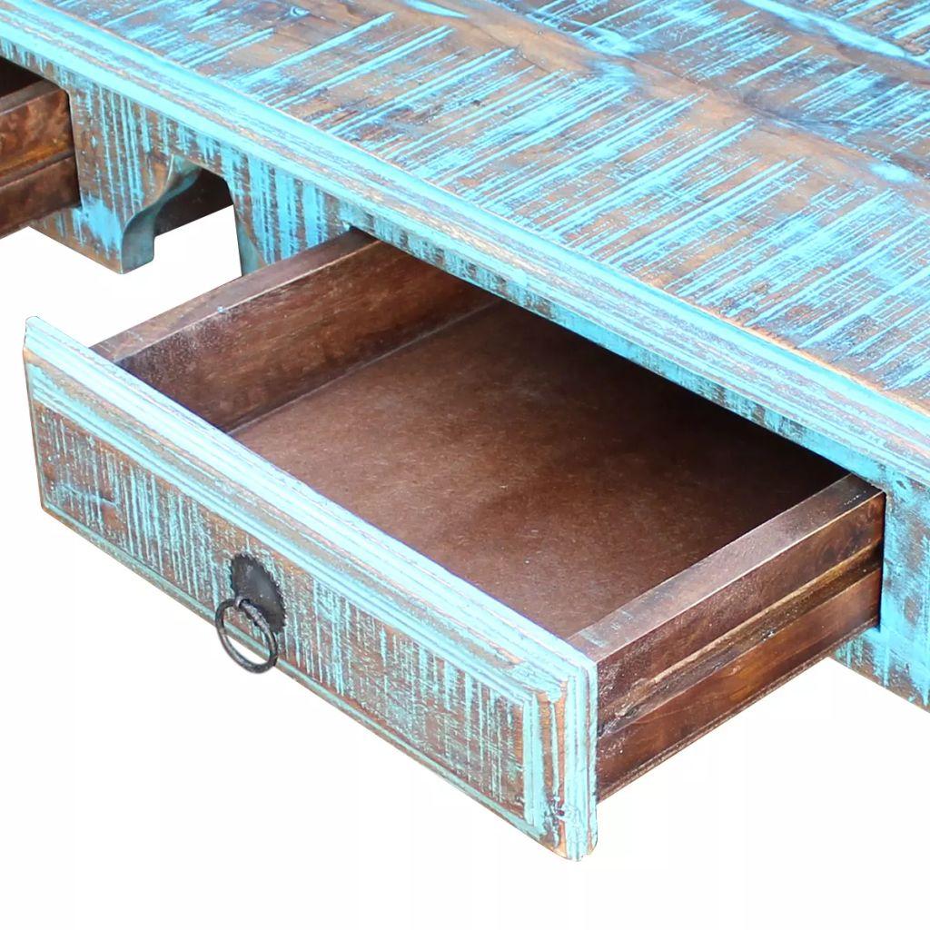 Birou din lemn reciclat de esență tare