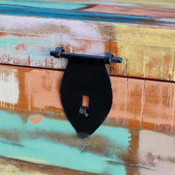 vidaXL Cufăr de depozitare din lemn reciclat de esență tare