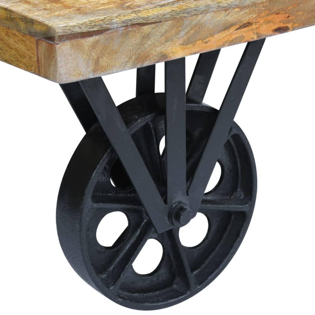 Masă de cafea din lemn de mango, 120x60x30 cm