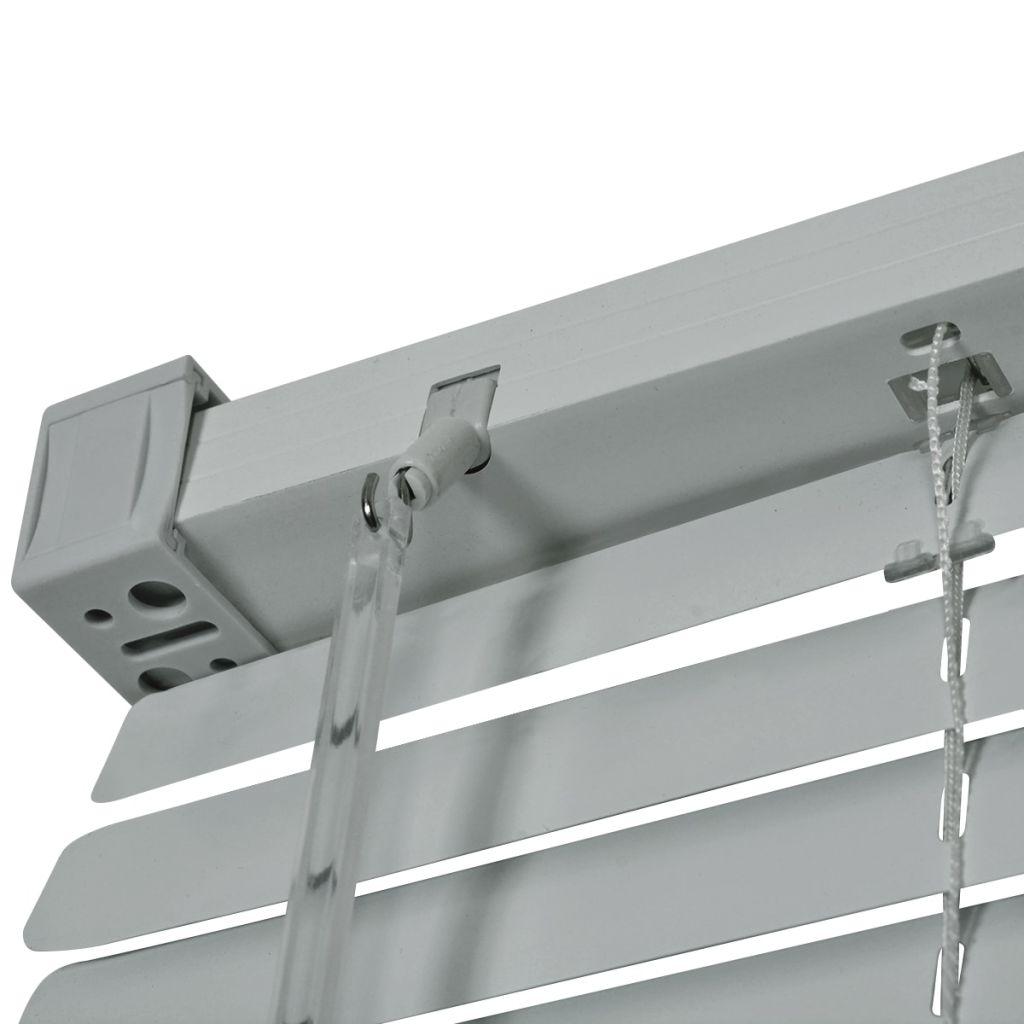 Jaluzele pentru ferestre, aluminiu, 100 x 130 cm, argintiu