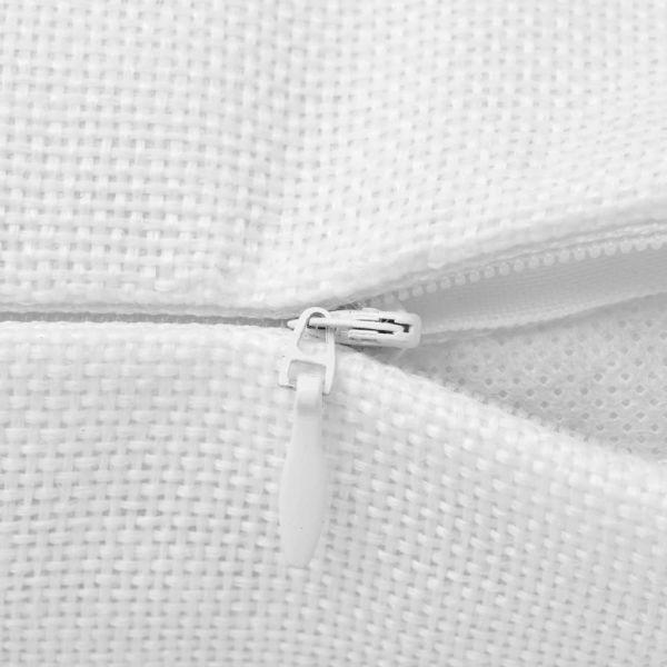 Huse de pernă cu aspect de pânză, 40 x 40 cm, alb, 4 buc.