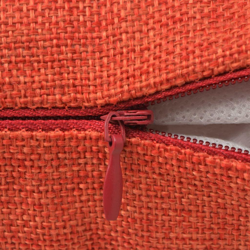 vidaXL Huse de pernă cu aspect de pânză, 80 x 80 cm, teracotă, 4 buc.
