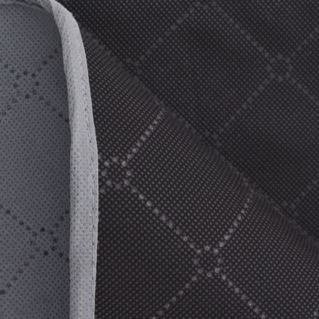 vidaXL Pătură de picnic cu gri și negru 150 x 200 cm