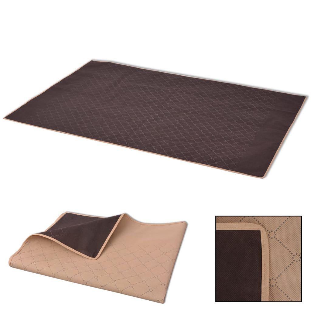 vidaXL Pătură pentru picnic, bej și maro, 100 x 150 cm