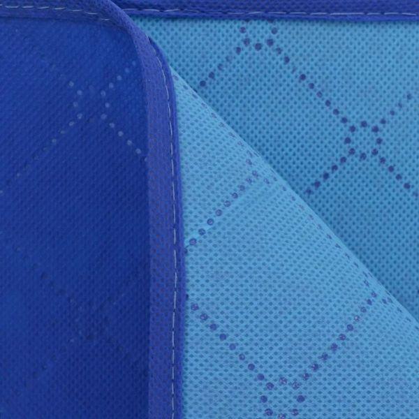 Pătură pentru picnic, albastru și bleu, 100 x 150 cm