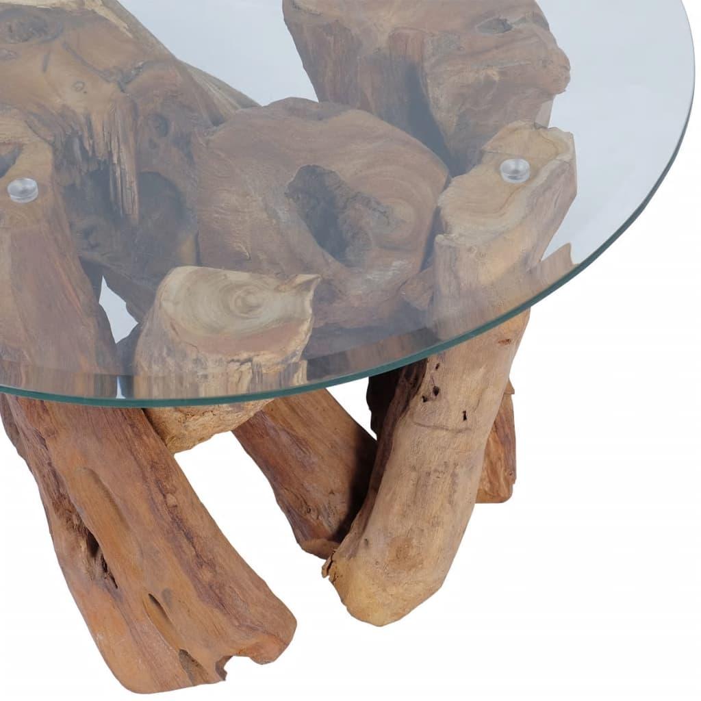 Măsuță de cafea din lemn de tec solid, 60 cm