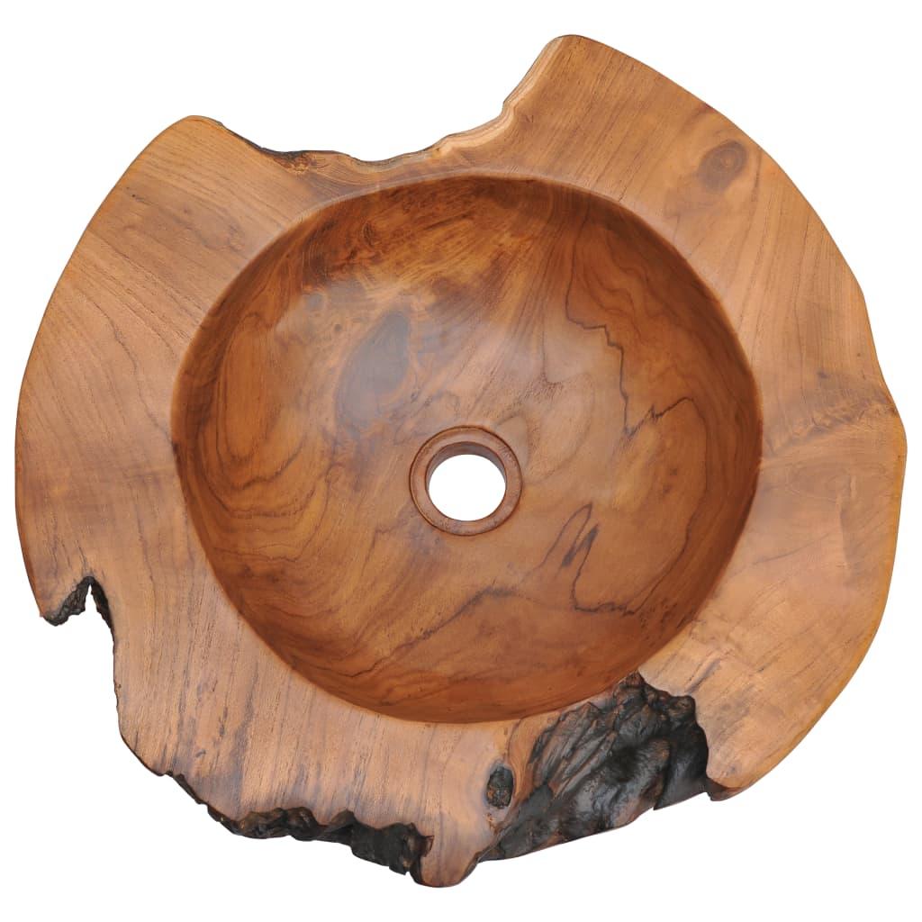 Chiuvetă de baie din lemn masiv de tec, 45 cm