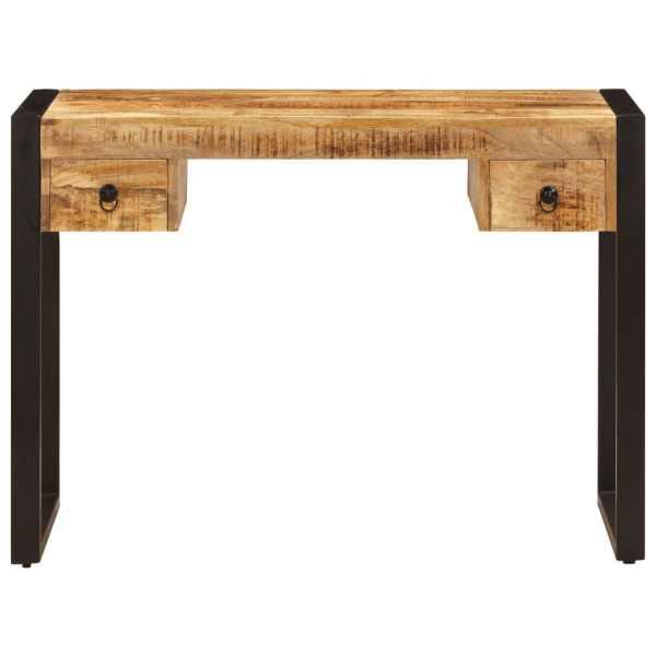 vidaXL Birou cu 2 sertare, 110 x 50 x 77 cm, lemn masiv de mango