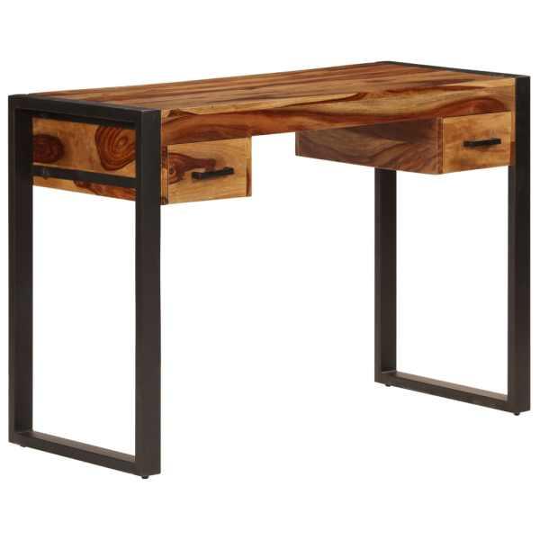 vidaXL Birou cu 2 sertare, 110 x 50 x 77 cm, lemn masiv de sheesham